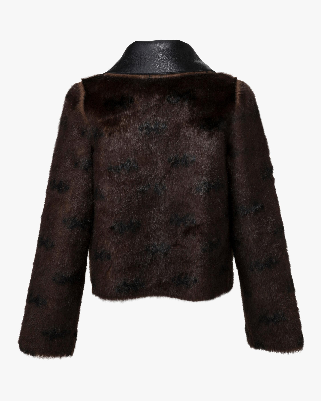 Marei 1998 Rose Vegan Leather & Faux Fur Reversible Coat 2