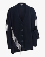Christopher Kane Crystal Cupchain Cardigan 0