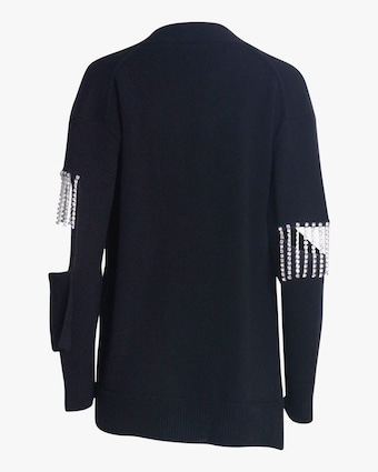 Christopher Kane Crystal Cupchain Cardigan 2