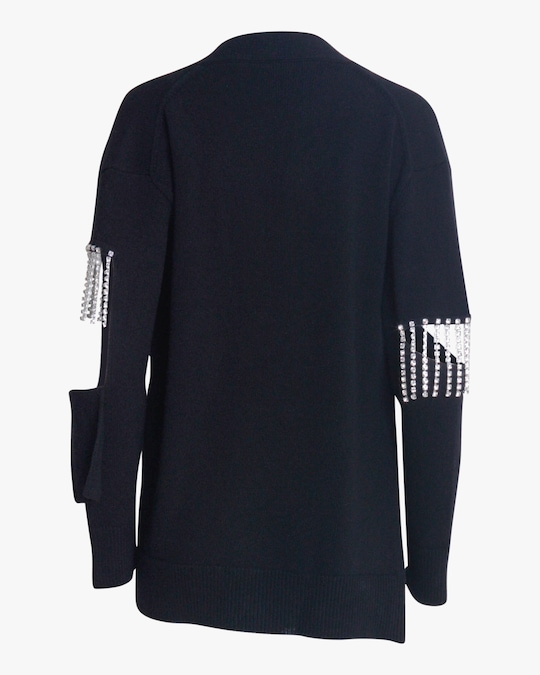Christopher Kane Crystal Cupchain Cardigan 1