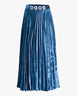 Christopher Kane Crystal-Embellished Pleated Skirt 0