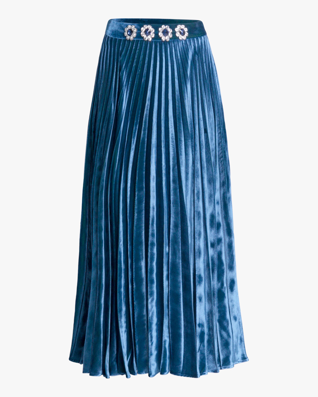 Christopher Kane Crystal-Embellished Pleated Skirt 1