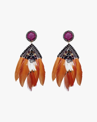 Ranjana Khan Amethyst & Crystal Clip-On Earrings 2