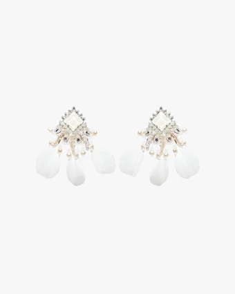 Ranjana Khan Pearl & Crystal Clip-On Earrings 1