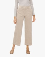 Eileen Fisher Courduroy Wide-Leg Ankle Pants 0
