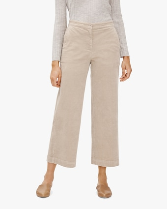 Eileen Fisher Courduroy Wide-Leg Ankle Pants 1