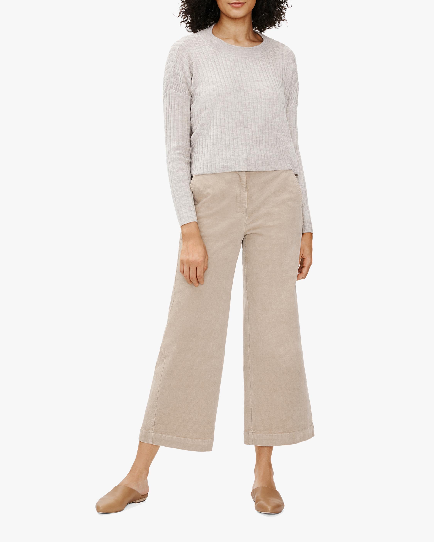 Eileen Fisher Courduroy Wide-Leg Ankle Pants 1