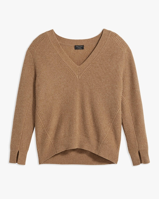 rag & bone Pierce V-Neck Cashmere Sweater 0