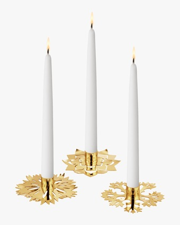 Georg Jensen Ice Flower Candle Holder - Set of Three 1