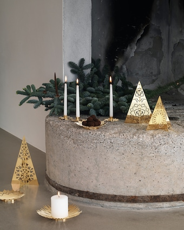 Georg Jensen Ice Flower Candle Holder - Set of Three 2