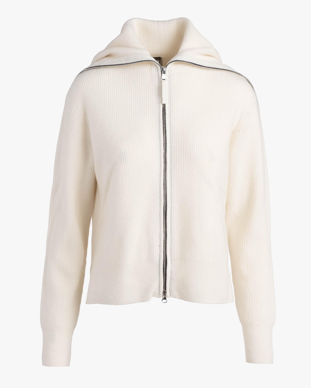 Naadam Texture Zip Cashmere Cardigan 2