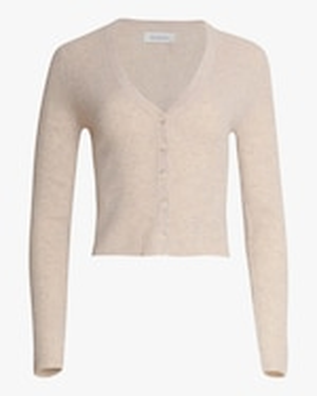Naadam Cropped V-Neck Cashmere Cardigan 0