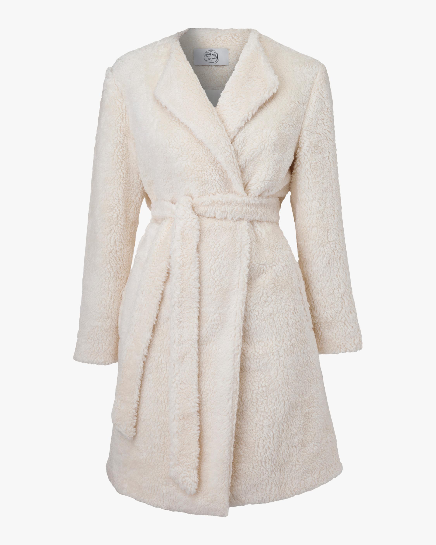 Marei 1998 Verbena Vegan Shearling Robe Coat 0