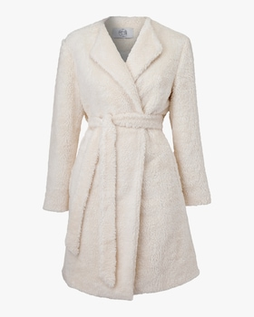 Verbena Vegan Shearling Robe Coat