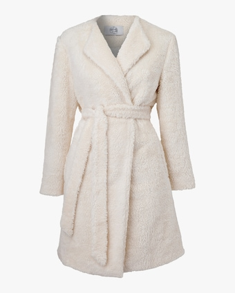 Marei 1998 Verbena Vegan Shearling Robe Coat 1