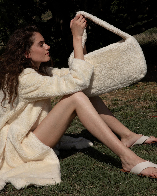 Marei 1998 Verbena Vegan Shearling Robe Coat 1