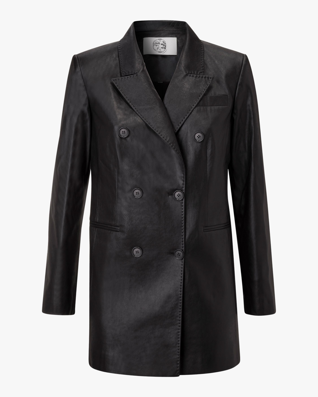 Nigella Vegan Leather Double-Breasted Jacket
