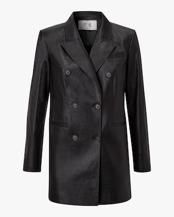 Marei 1998 Nigella Vegan Leather Double-Breasted Jacket 1
