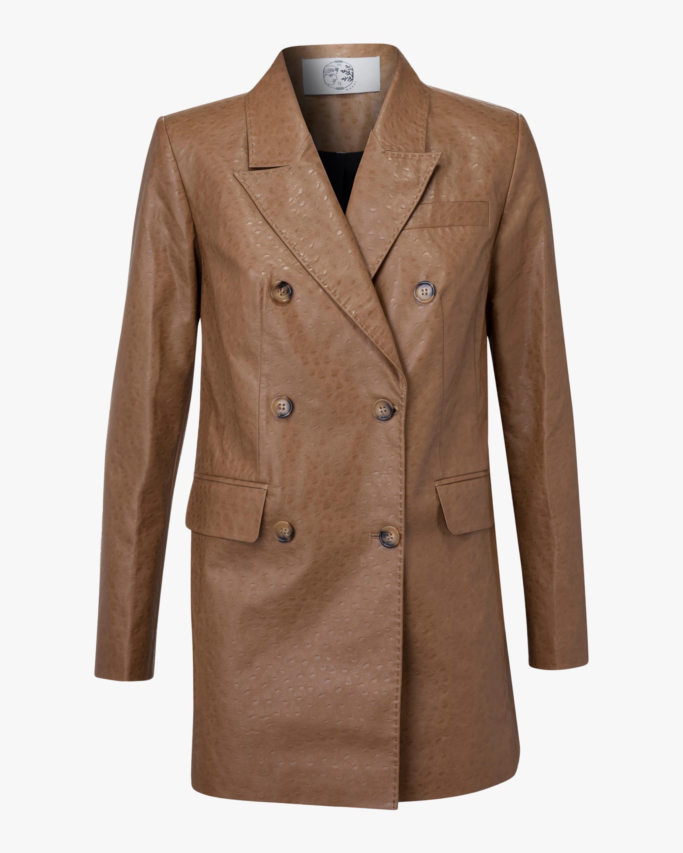 Marei 1998 Nigella Vegan Leather Double-Breasted Jacket 1