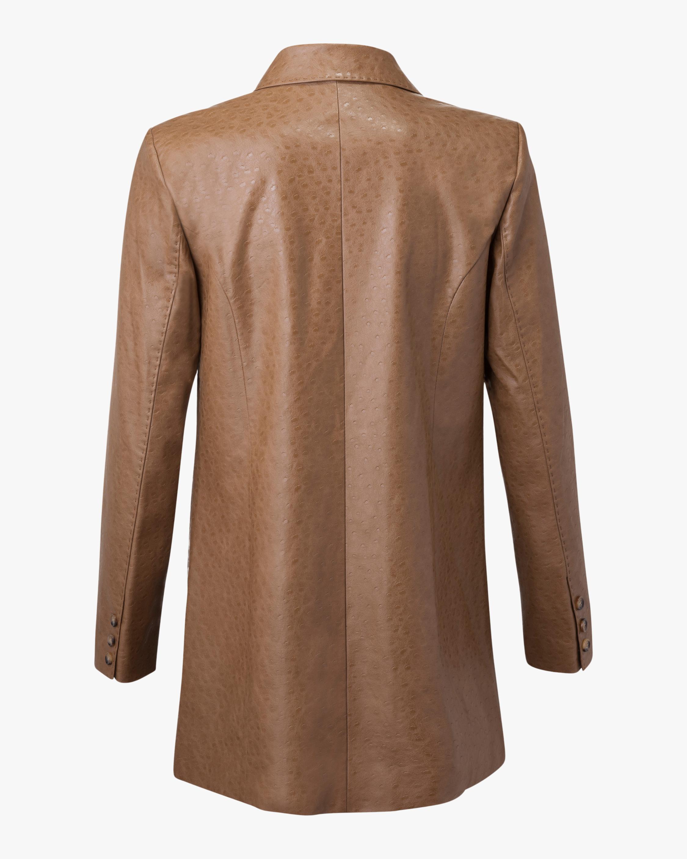 Marei 1998 Nigella Vegan Leather Double-Breasted Jacket 2