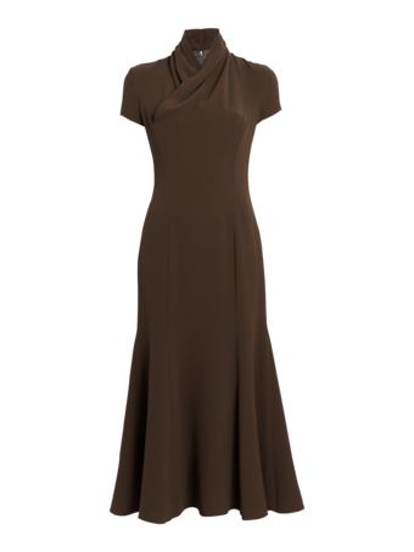 Shawl Collar Trumpet Dress