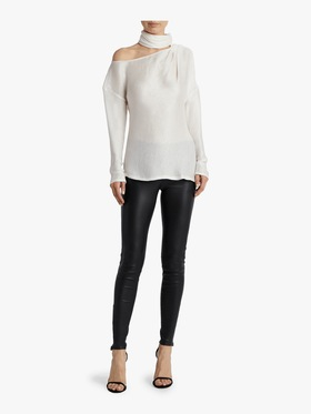 High Neck Cut-Out Blouse