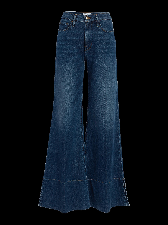 Palazzo Panel Slit Jeans