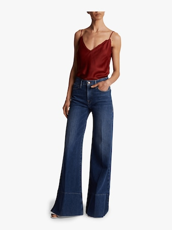 Frame Palazzo Panel Slit Jeans 2