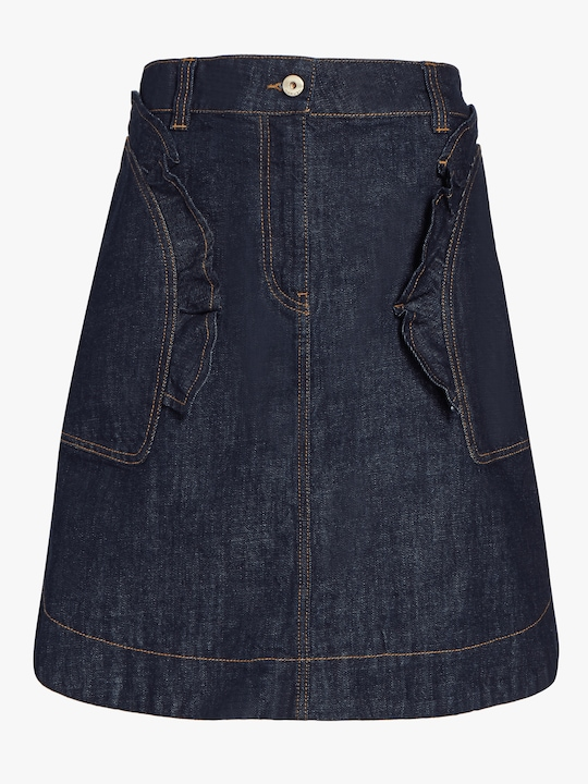 Carven Denim Mini Skirt 0