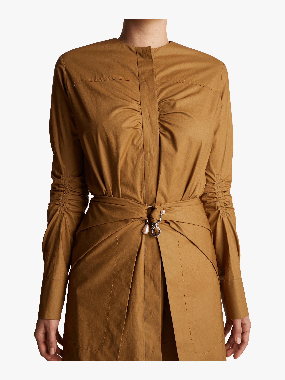 Carven Poplin Wrap Dress 2