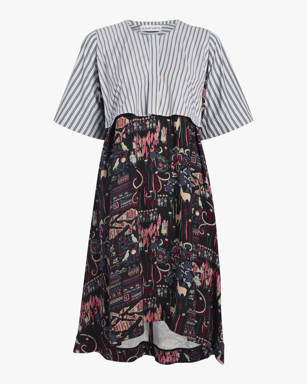 Carven Mixed Print Dress 0