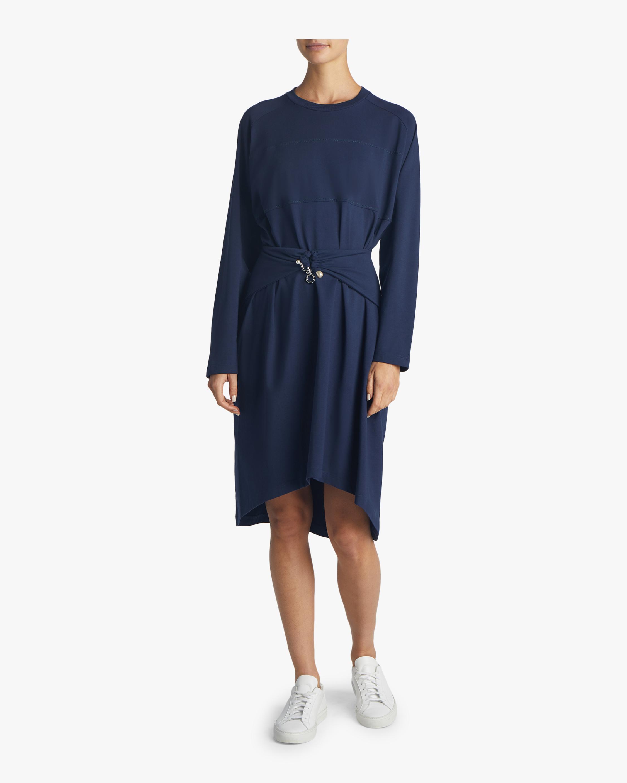 Draped T-shirt Dress