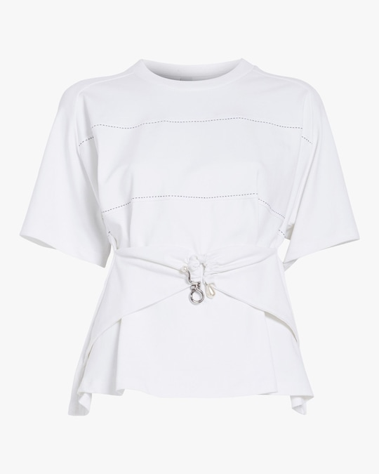 Carven Draped T-shirt 0