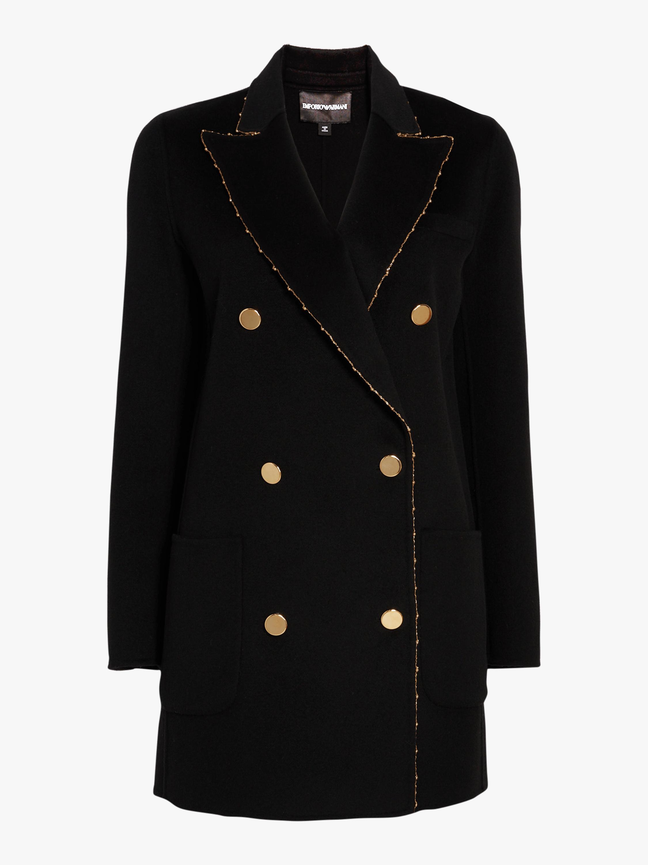 Double Breasted Wool Blazer Jacket