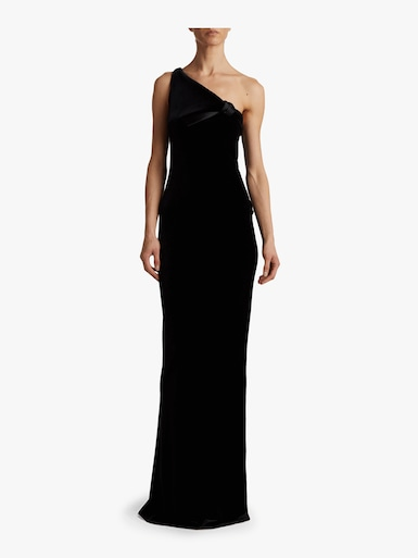 Velvet One Shoulder Gown