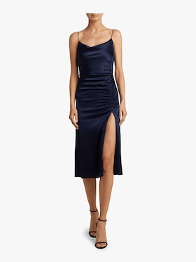 Dion Ruched Midi Slip Dress