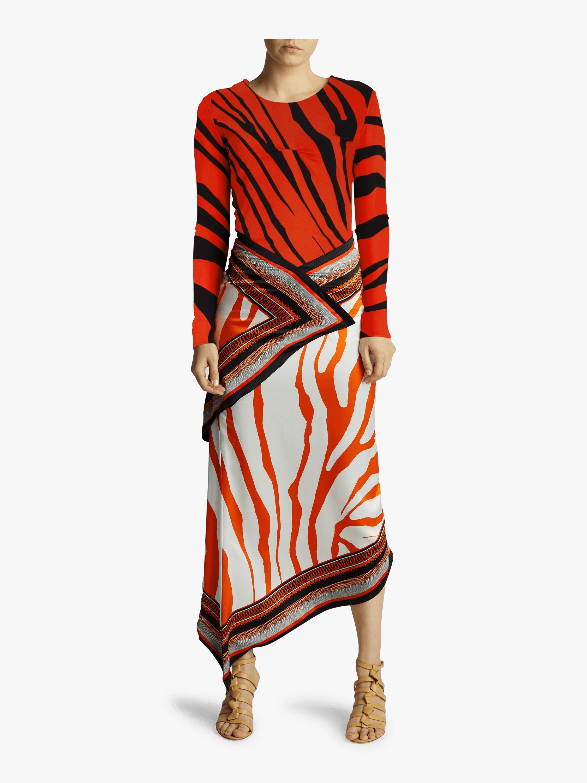Long Sleeve Silk Satin Dress