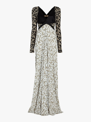 Abstract Thistle Gown