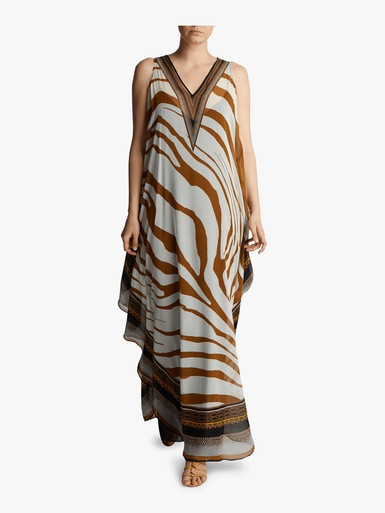 Animal Foulard Printed Kaftan