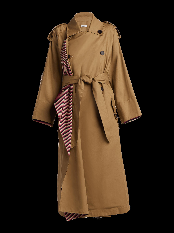 Scarf Lapel Trench Coat