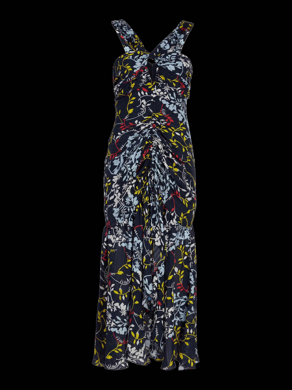 Sancia Floral Vines Print Dress