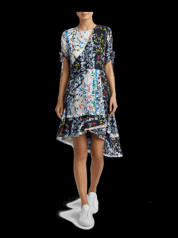 Siena Floral Vines Print Dress