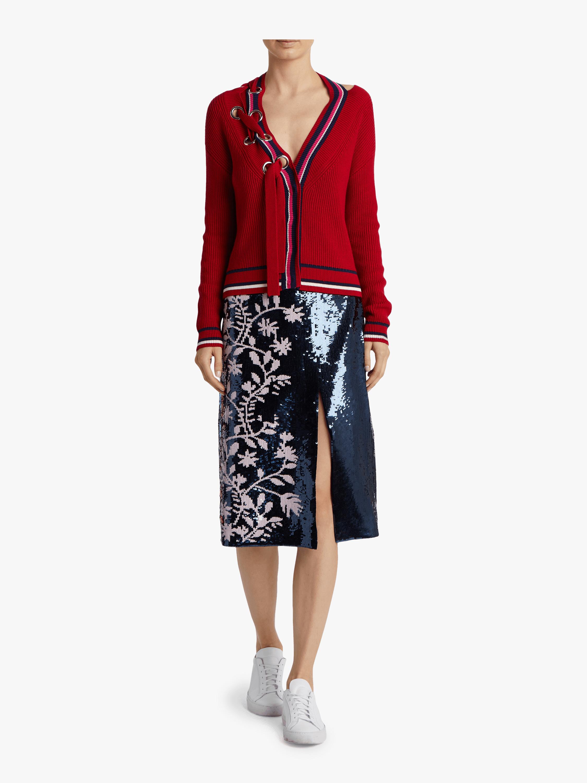 Greta Colorblock Cotton Sweater