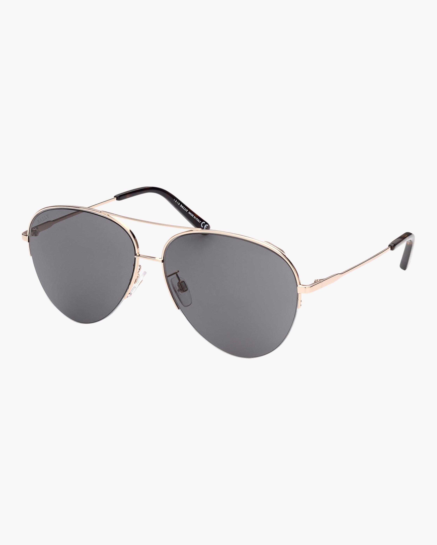 Bally Gold Aviator Sunglasses 0