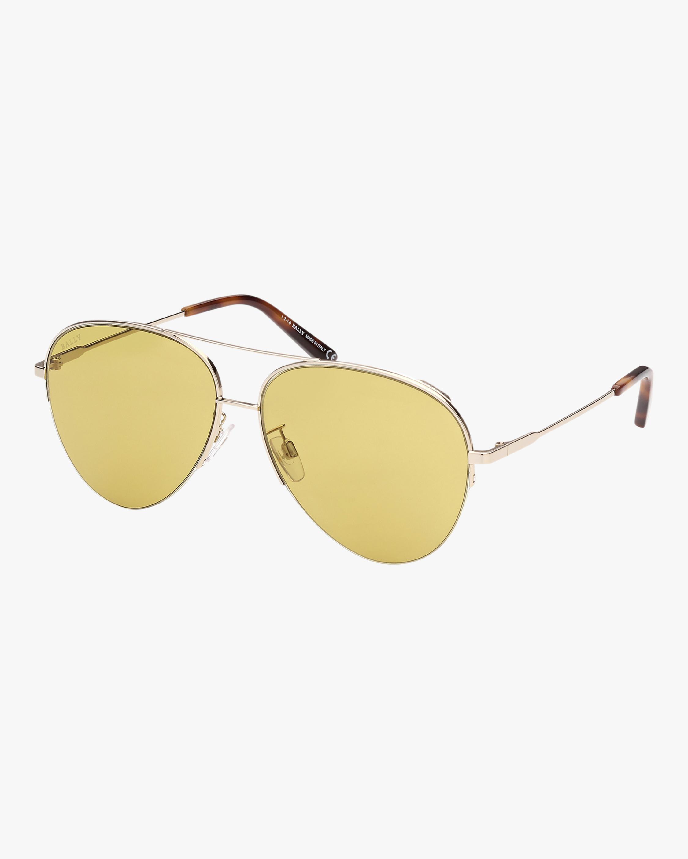 Bally Pale Gold Aviator Sunglasses 2