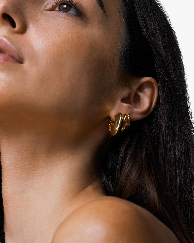 Jenny Bird Wide Hinged Hoop Earrings 2