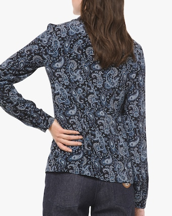 Michael Kors Collection Paisley Button Down Blouse 2
