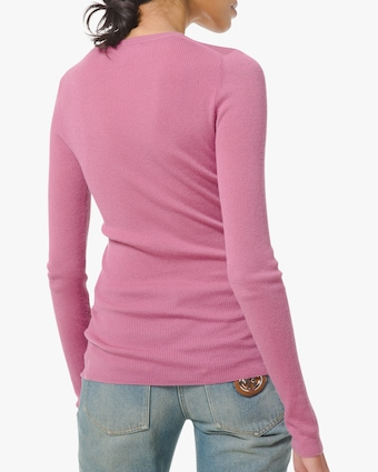 Michael Kors Collection Featherweight Cashmere Crewneck Sweater 2