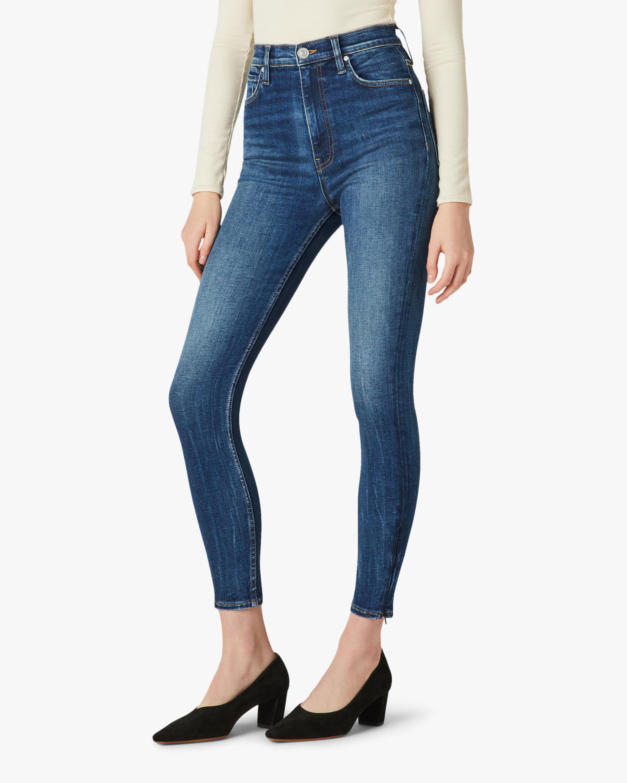 Hudson Centerfold High-Rise Super-Skinny Ankle Jeans 1