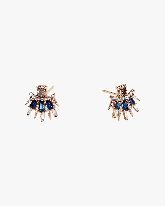 Sanjay Kasliwal Tilika Sapphire Stud Earrings 1